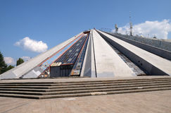 Pyramide in the center of Tirana, formerly an Enver Hoxha Museum Royalty Free Stock Photos