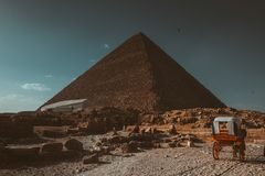pyramide, ciel, Egypte, voyage, vieux, historique, roches, construction, image libre de droits