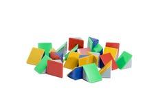 Pyramide colorée sur le fond blanc Photographie stock libre de droits