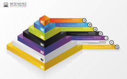 pyramide concept infographic descripteur moderne de conception Vecteur Photos stock