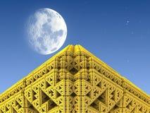 Pyramide d'or Images libres de droits