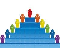 Pyramide d'affaires Images libres de droits