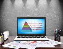 Pyramide d'affaires Photos libres de droits