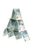 Pyramide d'argent photo libre de droits