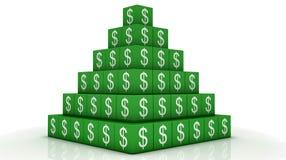 Pyramide d'argent photographie stock libre de droits