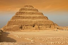 Pyramide d'opération du Roi Zoser (Djoser) Photographie stock libre de droits