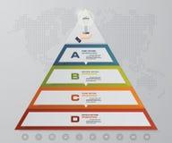 pyramide de 4 étapes avec l'espace libre pour le texte à chaque niveau infographics, présentations ou publicité Photo stock