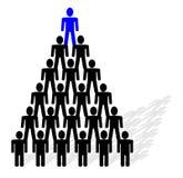 pyramide de gens Photographie stock libre de droits