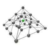 pyramide de la boule 3D Images libres de droits