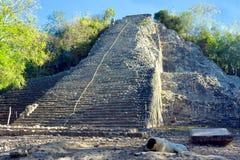 Pyramide de Nohoch Mul Photographie stock libre de droits