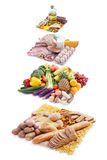 Pyramide de nourriture Images libres de droits