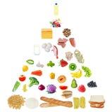 Pyramide de nourriture aînée Photographie stock libre de droits