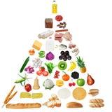 Pyramide de nourriture aînée Photo libre de droits