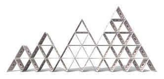 Pyramide de papier cartonné Photographie stock libre de droits