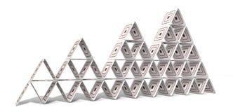 Pyramide de papier cartonné Images libres de droits
