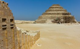 Pyramide de Saqqara photographie stock