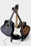 Pyramide de trois guitares Photographie stock libre de droits