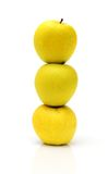 Pyramide de trois pommes Photos libres de droits