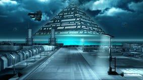 Pyramide de vol illustration de vecteur