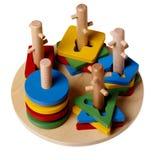 Pyramide der bunten Kinder (Puzzlespiel) getrennt Lizenzfreies Stockfoto