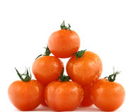 Pyramide der frischen Tomaten Lizenzfreie Stockfotografie