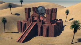 Pyramide in der Wüste Stockbild