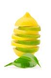 Pyramide der Zitrone- und Kalkscheiben Lizenzfreies Stockbild