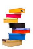 Pyramide des cadres colorés Image stock