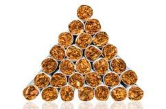 Pyramide des cigarettes photos libres de droits