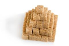 Pyramide des cubes en sucre de canne Photographie stock