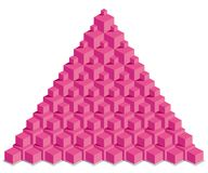 Pyramide des cubes rouges Photo stock