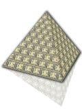 Pyramide des dollars Photo libre de droits
