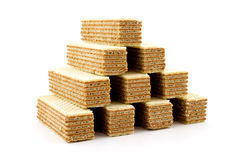 Pyramide des gaufrettes Images stock