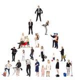 Pyramide des gens réels Images libres de droits
