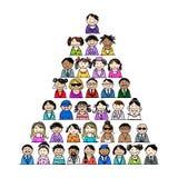 Pyramide des icônes de personnes pour votre conception Images libres de droits