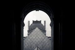 Pyramide des Luftschlitzes Stockfotos