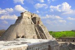 Pyramide des Magiers, Uxmal, Yucatan, Mexiko Stockfotografie