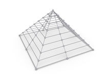 Pyramide des sphères Image libre de droits