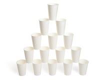 Pyramide des tasses de livre blanc Image libre de droits