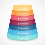 Pyramide des Vektors 3D für das Geschäft infographic Lizenzfreies Stockbild