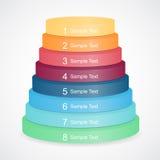 Pyramide des Vektors 3D für das Geschäft infographic Lizenzfreie Stockfotografie