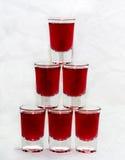 Pyramide des verres Photo libre de droits