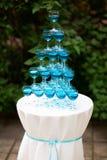 Pyramide des verres de champagne côte images libres de droits