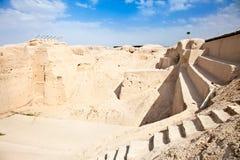 Pyramide en terrasse d'opération de Sialk. Kashan ; l'Iran Image libre de droits