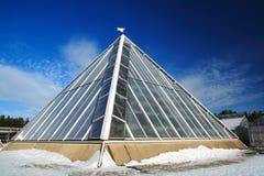 Pyramide en verre Photo libre de droits
