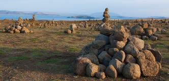 Pyramide et lac de cairns Photos libres de droits