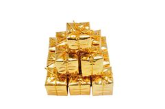 Pyramide of gifts Royalty Free Stock Photo