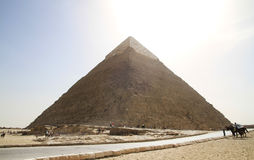 Pyramide grande de Giza Photos stock