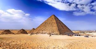 Pyramide grande de Giza. l'Egypte Photos libres de droits