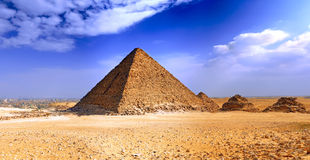 Pyramide grande de Giza. l'Egypte Images libres de droits